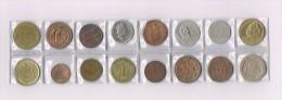 England, Grèce,Afrique,Danmark,Deutschland,Mexico,USA X 16 !!!!! Ensemble De Pièces De Monnaie-set Of Coins - Monnaies