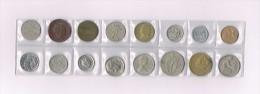England, Grèce,Norge,Israel,New Zeland,Danmark,Deutschland,USA X 16 !!!!! Ensemble De Pièces De Monnaie-set Of Coins - Monnaies