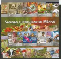 MEXIQUE.la Santé Et La Sécurité Alimentaire Au Mexique. Un Bloc-feuillet Neuf **, Année 2011 - Agriculture