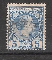MONACO 1885, Charles III, Yvert N° 3 , 5 C Bleu,, Cote 50 Euros TB - Monaco