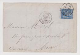 LETTRE ORFEVRERIE CHRISTOFLE PARIS 13 DÉCEMBRE 1880 POUR ARRAS - SAGE 25 C BLEU - ZOOM 4 Scans - - Postmark Collection (Covers)