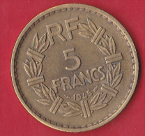 France 5 Francs Gouvernement Provisoire 1945 - Gadoury N°761a - TTB - France