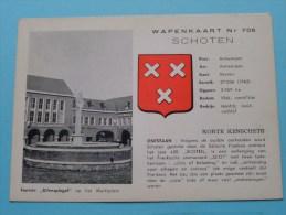 """Fontein """" Uilenspiegel """" Op Het Marktplein """" WAPENKAART Nr. 705 / Anno 19?? ( Voir/zie Foto Voor Details ) !! - Schoten"""