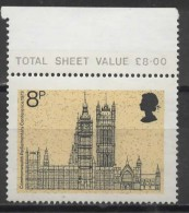 GREAT BRITAIN 1973 19th Commonwealth Parliamentary Conference - 8p Palace Of Westminster, Seen From Whitehall  MNH - 1952-.... (Elizabeth II)