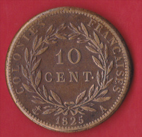 Colonies Charles X - 10 Centimes 1825A - TTB - Colonies