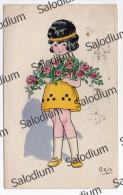 1928 - Belgium Belgique - Ragazza Girl Fiore Flower Illustratore Oris - Illustrators & Photographers