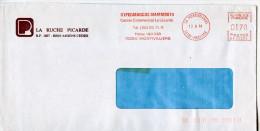 EMA Animaux,faune,espéce Disparu,mammouth,Hypermarché Mammouth,76Montvilliers,La Ruche Picard,Amiens,lettre 13.8.1984 - Briefmarken