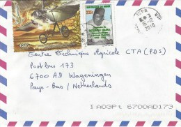 Niger 2010 Tera Roland Garros Aviation Airplane Hama Witer Cover - Niger (1960-...)