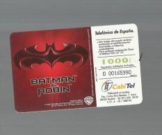 98155 Telefon Card Carta Telefonica Batman E Robin Telephon - Schede Telefoniche