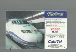 98155 Telefon Card Carta Telefonica Con Treno Train - Schede Telefoniche