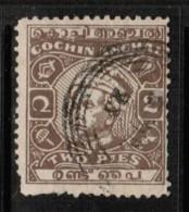 INDIA---Cochin   Scott  # 63 VF USED - India (...-1947)