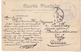 32 Auch- Carte De 1915 Cachet Bleu 15 ème Corps D'armée Hopital Temporaire24 Auch. Complet Tb état. - Marcophilie (Lettres)