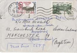 FR-L71 - FRANCE N° 1192 + 1265 Sur Lettre Expédiée D'Ajaccio à Munster Et Réexpédiée à Manchester - France