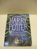 HARRY POTTER à L'ÉCOLE Des SORCIERS - Tome 1 -  J.K. Rowling - Folio Junior 2012 - Harry Potter