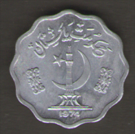 PAKISTAN 10 PAISA 1974 - Pakistan