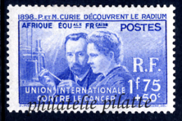 1938 Pierre Et Marie Curie 21 Valeurs** - Frankreich (alte Kolonien Und Herrschaften)