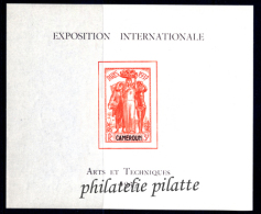 1937 Exposition De Paris  Blocs** 24 Valeurs - Frankreich (alte Kolonien Und Herrschaften)