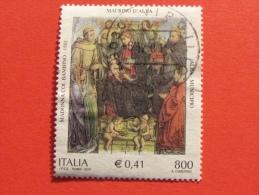 ITALIA USATI 2001 - MADONNA COL BAMBINO ANGELI S FRANCESCO TOMMASO - SASSONE 2576 - RIF. G 2235 LUSSO - 6. 1946-.. Repubblica