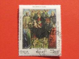 ITALIA USATI 2001 - MADONNA COL BAMBINO ANGELI S FRANCESCO TOMMASO - SASSONE 2576 - RIF. G 2236 LUSSO - 6. 1946-.. Repubblica