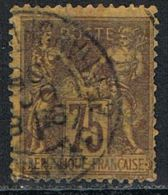 FRANCE : N° 99 Oblitéré  (Type Sage) Aminci : Voir Scan - PRIX FIXE - - 1876-1898 Sage (Type II)