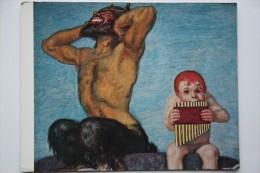 """Von Stuck """"Dissonanz"""" (1910) - Old Postcard - Pan Flute - Musique Et Musiciens"""