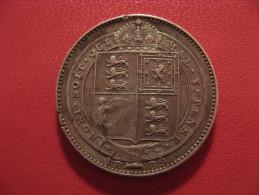 Grande-Bretagne - UK - Shilling 1889 Victoria - Rare Variété Au Petit Buste 3323 - 1816-1901 : Frappes XIX° S.