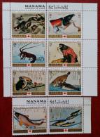 Manama, 1971, Mi: 456/63 (MNH) - Peces