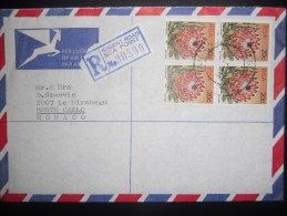 Afrique Du Sud , Lettre Recommande De Sea Point 1981 Pour Monaco - Afrique Du Sud (1961-...)