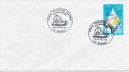"""2001 - BERNAY - """"VIIeme Philatélique Jeunesse NORMANDIE - 8/9 Sept 2001"""" Timbre N°3388 - Tad Moulin à Eau - Marcophilie (Lettres)"""