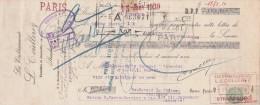 Lettre Change 21/12/1929 Ets L COULLEREZ Futailles Bouteilles STRASBOURG  Bas Rhin Pour Doulevant 52 - Lettres De Change