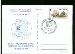 POLSKA -  INTERPHIL  ´76 - Filatelistische Tentoonstellingen