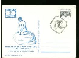 POLSKA -  HAFNIA  ´76 - Briefmarkenausstellungen