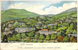 DEUTCHLAND Allemagne - BADEN-BADEN : Hotel MESSMER - Jolie CPA Colorisée - - Baden-Baden