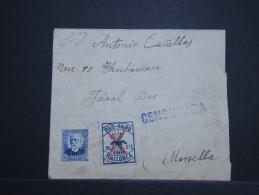 ESPAGNE - Enveloppe Pour Marseille En 1937 Avec Censure - A Voir - Lot P14212 - Marcas De Censura Nacional