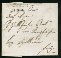 A3602) Vorphila Briefhülle Von SENSHEIM 21.12.1840 - Deutschland