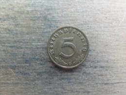 Allemagne  5  Reichspfennig  1938  D  Km 91 - 5 Reichspfennig