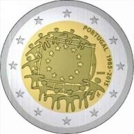 Portugal 2015    2 Euro Commemo   30 Jaar Europese Vlag - Drapeaux Européenne     UNC Uit De Rol  UNC Du Rouleaux  !! - Portugal