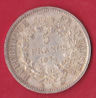 France 5 Francs Type Hercule 1874A - Gadoury N°745a - SUP - France