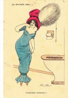 Illustrateur SAGER Xavier,  élégante Entravée, Cuvette De WC,  Serie KF 3998 - Sager, Xavier
