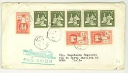 STORIA POSTALE - CANADA - 1956 - MERVILLE LANDRY - PAR AVION - CHRISTMAS NOEL - - Non Classificati