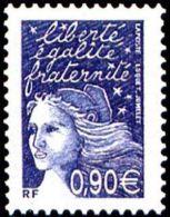 France Marianne Du 14 Juillet N° 3573 ** Luquet Le 0.90 Bleu Foncé - 1997-04 Marianne Of July 14th