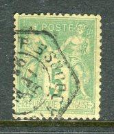 Rare N° 106 Cachet De Levée Exceptionnelle - 1876-1898 Sage (Type II)