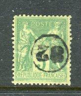 Superbe N° 106 Cachet 82 Dans Un Cercle - 1876-1898 Sage (Type II)
