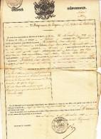 Boom, 1 Decembre 1849, Congé Définitif, Jean-Joseph Kennes (X11231) - Historische Documenten