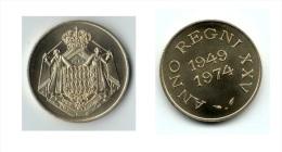** MEDAILLE COMMEMORATIVE 25 Ans REGNE RAINIER III 1974 FDC ** - Unclassified
