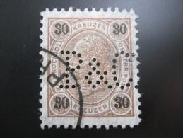 FIRMENLOCHUNG    , Perfin , 2 Scans - 1850-1918 Imperium