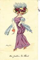 Illustrateur SAGER Xavier, élégante Au Jardin De  Paris, Serie KF 3997, Petit Accroc Carte - Sager, Xavier