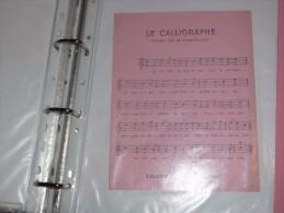 BUVARD Publicitaire  BLOTTING PAPER  Calligraphe Cadet Roussel Chanson - Papeterie