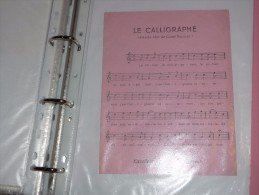 BUVARD Publicitaire  BLOTTING PAPER  Calligraphe Cadet Roussel Chanson - Stationeries (flat Articles)