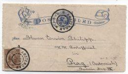 Netherlands/Czechoslovakia COVER 1895 - Periode 1891-1948 (Wilhelmina)